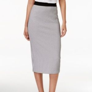Alfani Petite Gingham-Print Midi Skirt